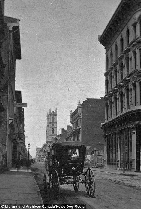 عکسی از خیابان نوتردام در مونترال در سال 1867 که کانادا رسمیت پیدا کرد / آرشیو ملی کانادا / News Dog Media