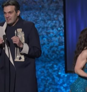 سخنرانی کوتاه حمید سعیدی هنگام دریافت جایزه