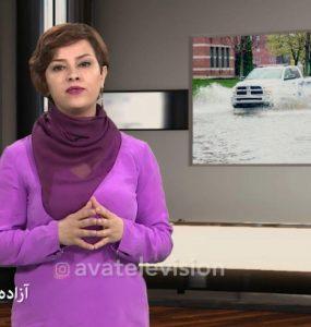 آزاده مقدم در نخستین برنامه «نگاه» درباره سیل اخیر مونترال صحبت میکند / Screenshot - AVA TV