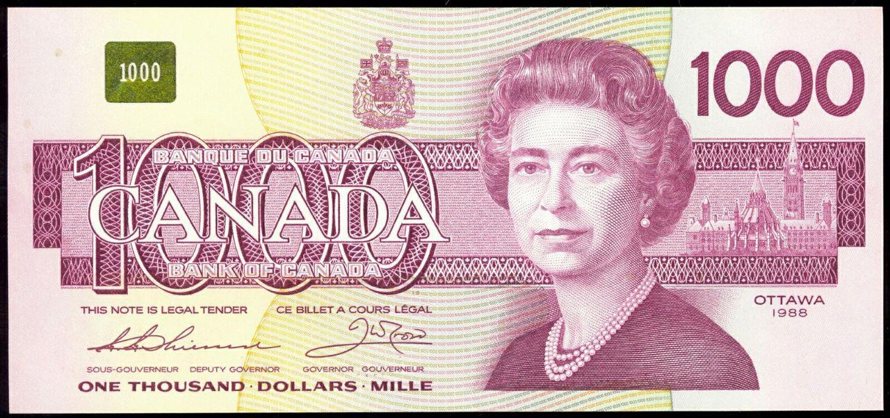 اسکناس هزار دلاری کانادا