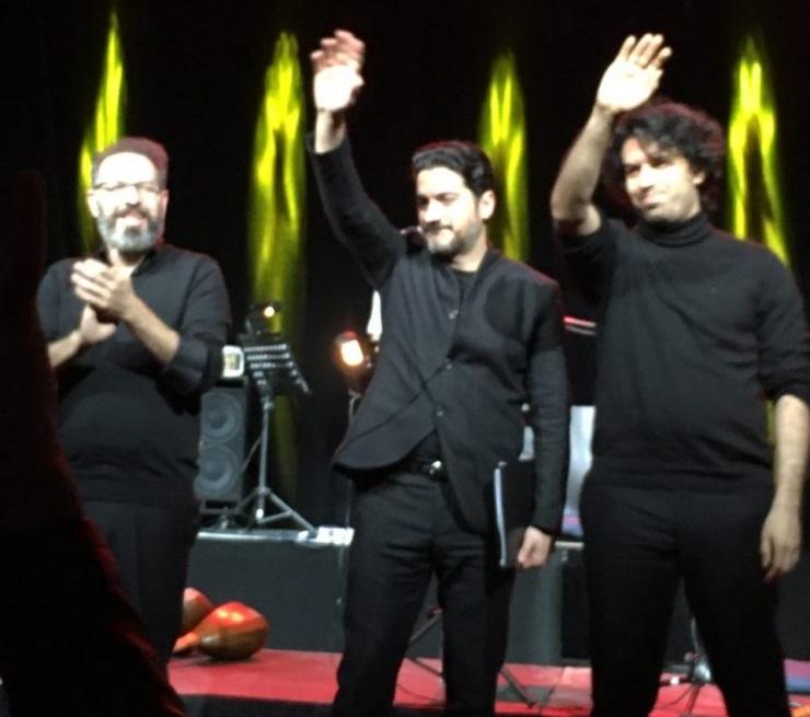 تشوقهای ممتد حضار همایون شجریان و برادران پورناظری را دوباره به صحنه کشاند تا آوازی در وصف وطن تقدیم مردم کنند Azadeh Moghaddam / Médad e-Magazine