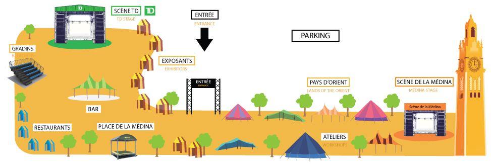 نقشهی محل برگزاری برنامه های جشنواره / منبع: وبسایت جشنواره