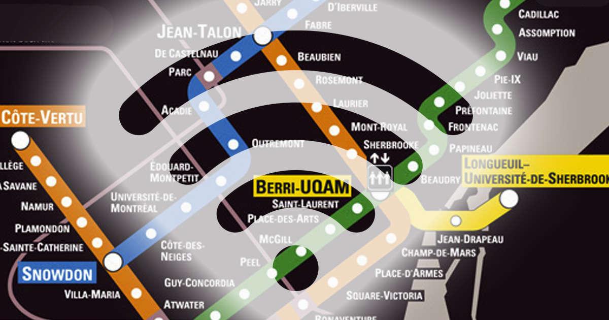 سرتاسر خط نارنجی متروی مونترال به اینترنت وصل شد