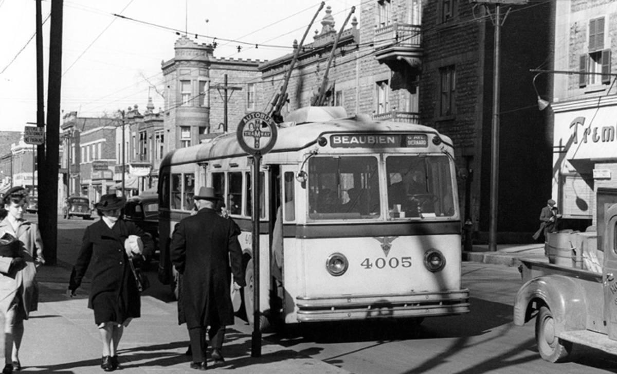 اتوبوسهای برقی خیابان بوبین / Photo: STM