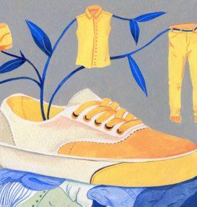 بازیافت لباسهای فرسوده یا از مدافتاده جلوی آسیبهای محیطزیستی فراوانی را میگیرد / ILLUSTRATION BY LUISA RIVERA FOR YALE E360