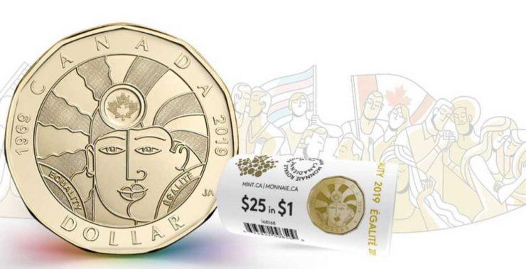 سکه یادبود یک دلاری جدید کانادا «برابری» نام دارد / photo: mint.ca